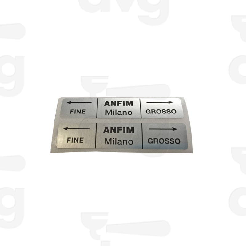 Adhesive Label Fine Grosso Spare Parts Coffee Machines And